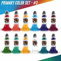 World Famous Ink Primary Set #3 (12 colors) 1 oz