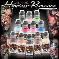 World Famous Ink SANDRA DAUKSHTA HOPELESS ROMANCE INK SET