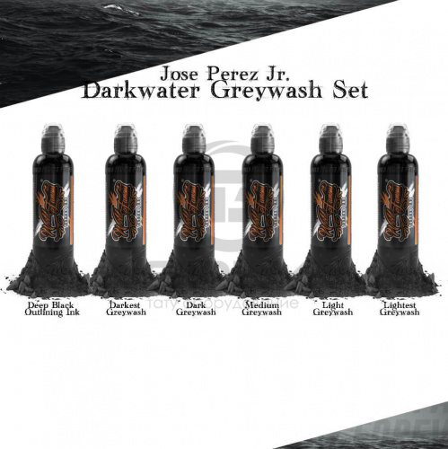 World Famous Ink JOSE PEREZ JR DARK WATER SHADING SET 4 oz