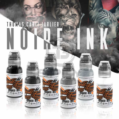 World Famous Tattoo Ink THOMAS CARLI JARLIER NOIRE INK SET