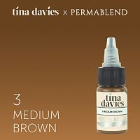 Пигмент Perma Blend для татуажа бровей Tina Davies 'I Love INK' 3 Medium Brown