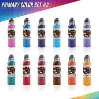 World Famous Ink Primary Set #2 (12 colors) 1 oz