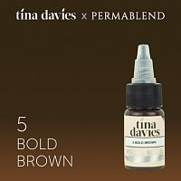 Пигмент Perma Blend для татуажа бровей Tina Davies 'I Love INK' 5 Bold Brown