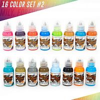 World Famous Ink 16 Color Ink Set #2 1 oz