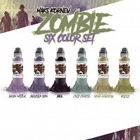 World Famous Ink MAK'S KORNEV ZOMBIE 6 BOTTLE SET