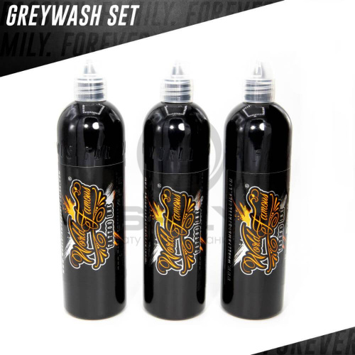 World Famous Ink WORLD FAMOUS CHARCOAL GREYWASH 3 BOTTLE SET