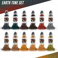 World Famous Ink Earthtone Set (12 colors) 1 oz