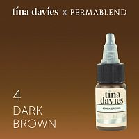 Пигмент Perma Blend для татуажа бровей Tina Davies 'I Love INK' 4 Dark Brown