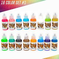 World Famous Ink 16 Color Ink Set #1 1 oz