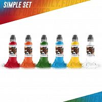 World Famous Ink Simple Color Set (6 colors) 1 oz