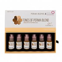"Пигмент Perma Blend для татуажа бровей ""TONES OF PERMA BLEND - FITZPATRICK 1-2 SET 1"""