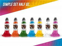 World Famous Ink Simple Color Set (7 colors) 1/2 oz